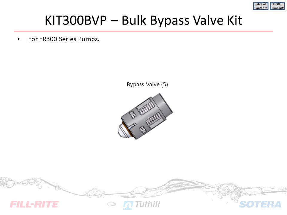 KIT300BVP – Bulk Bypass Valve Kit