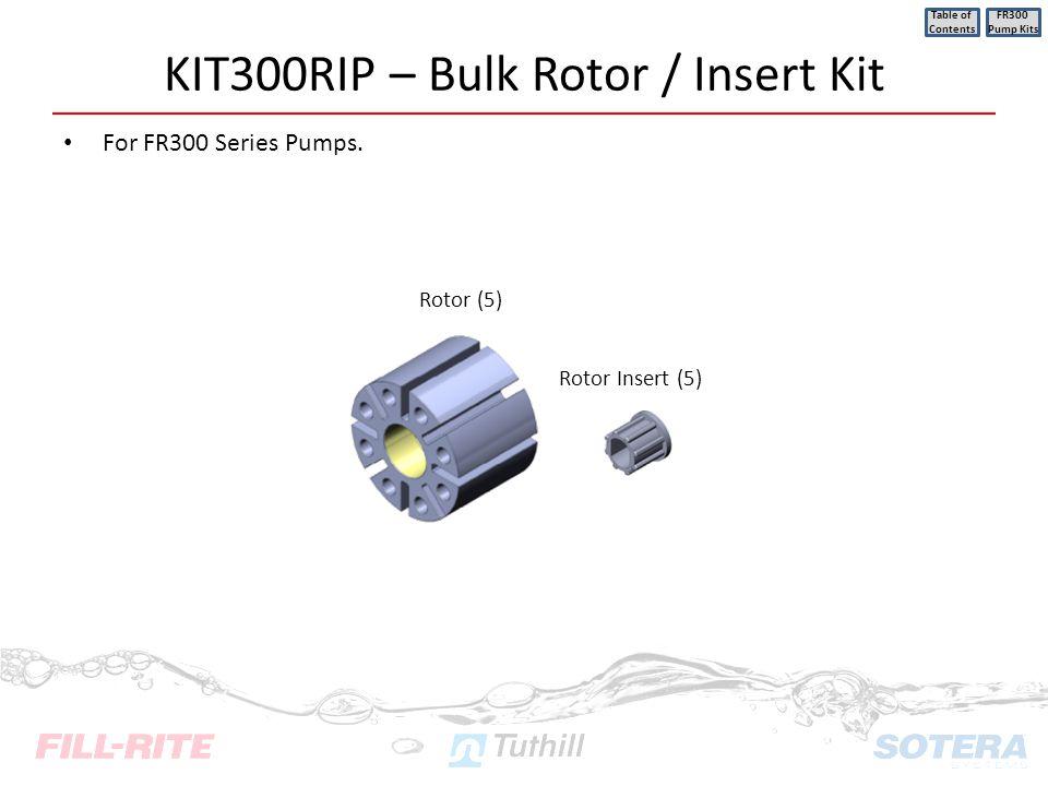 KIT300RIP – Bulk Rotor / Insert Kit