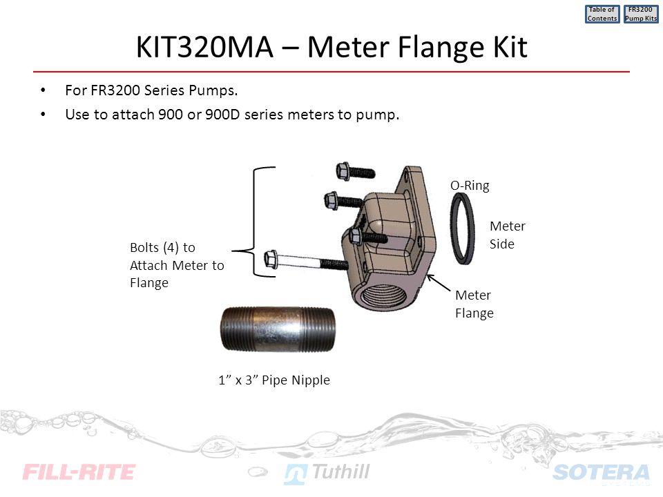 KIT320MA – Meter Flange Kit