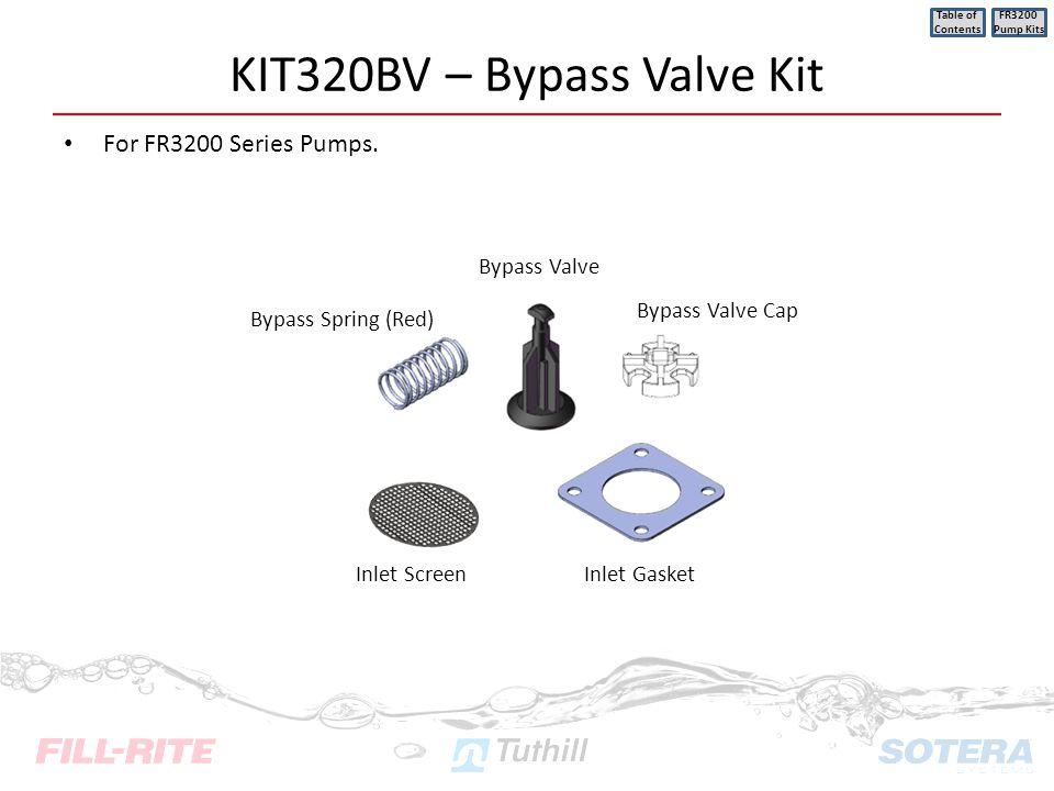 KIT320BV – Bypass Valve Kit