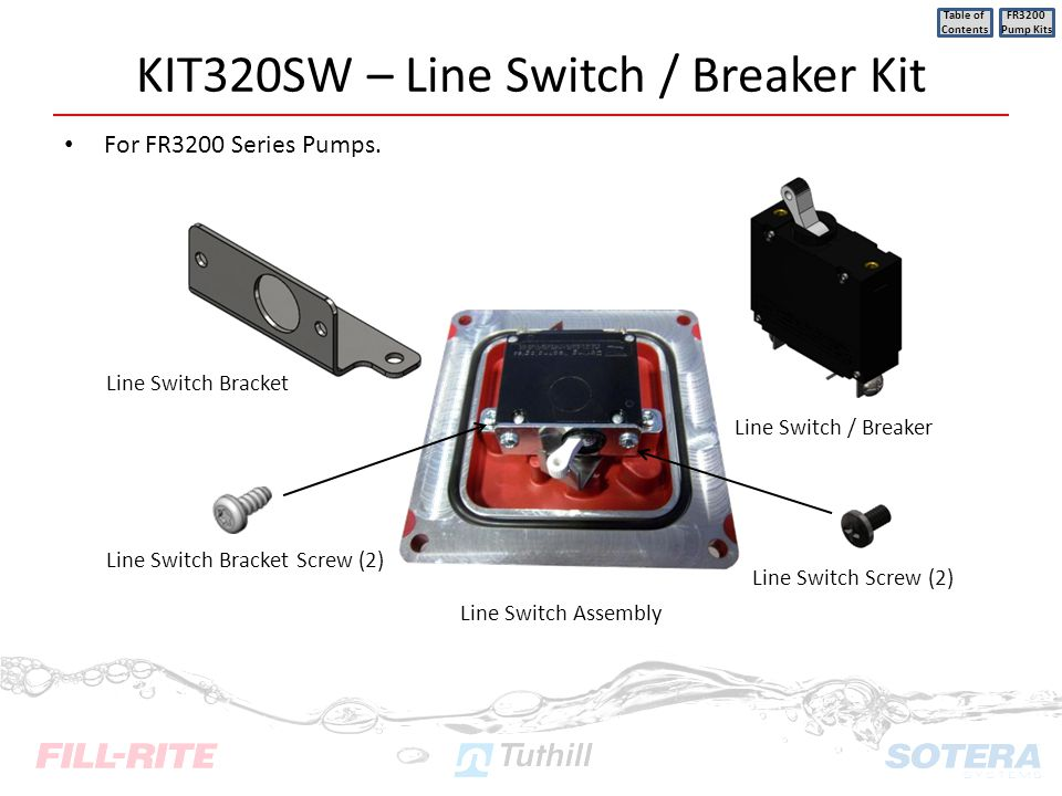 KIT320SW – Line Switch / Breaker Kit