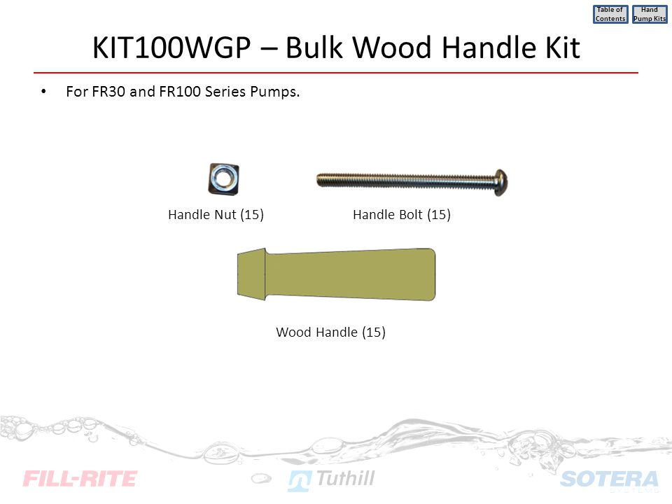 KIT100WGP – Bulk Wood Handle Kit