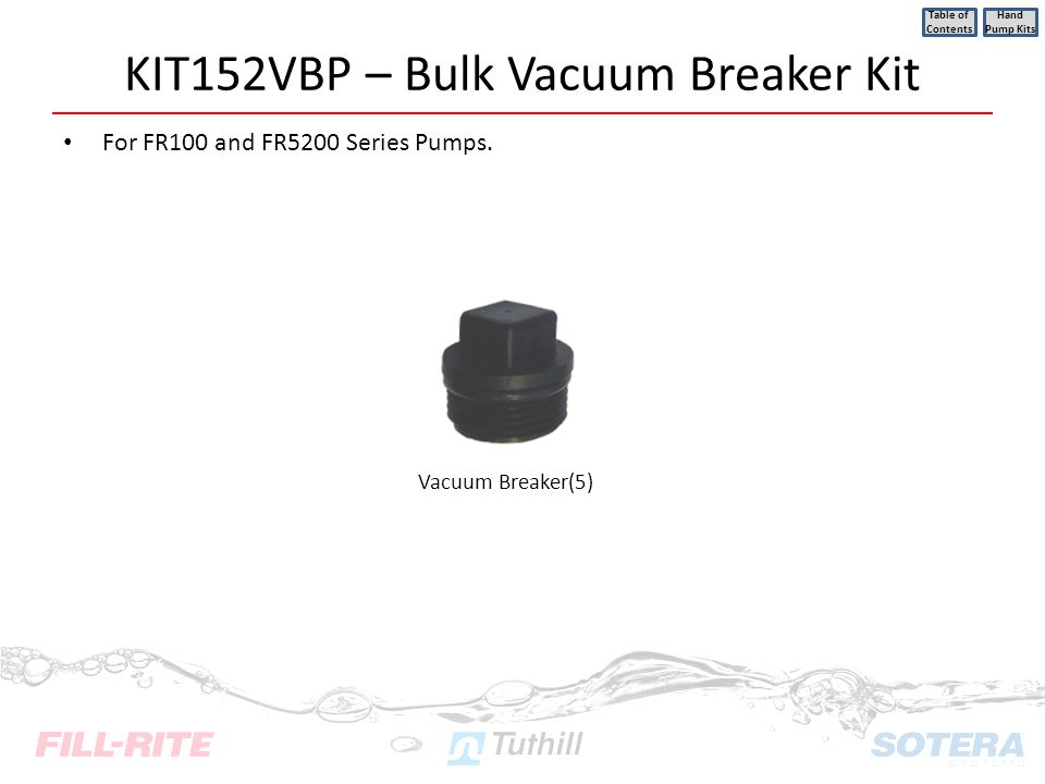 KIT152VBP – Bulk Vacuum Breaker Kit