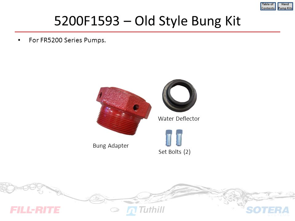 5200F1593 – Old Style Bung Kit For FR5200 Series Pumps.