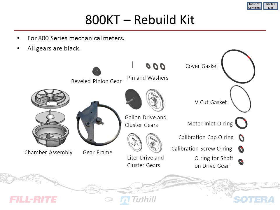 800KT – Rebuild Kit For 800 Series mechanical meters.