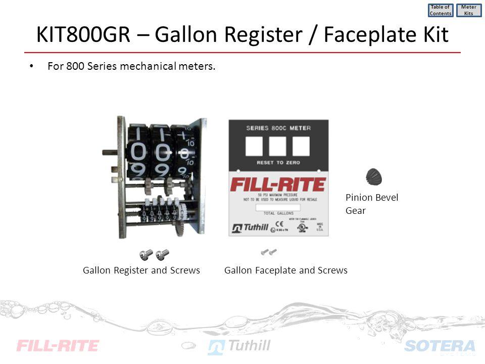 KIT800GR – Gallon Register / Faceplate Kit