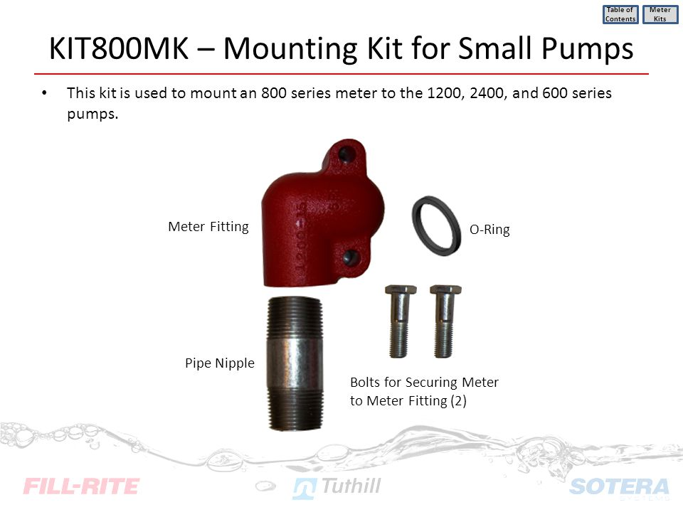 KIT800MK – Mounting Kit for Small Pumps