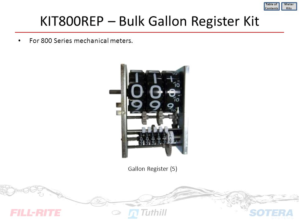 KIT800REP – Bulk Gallon Register Kit