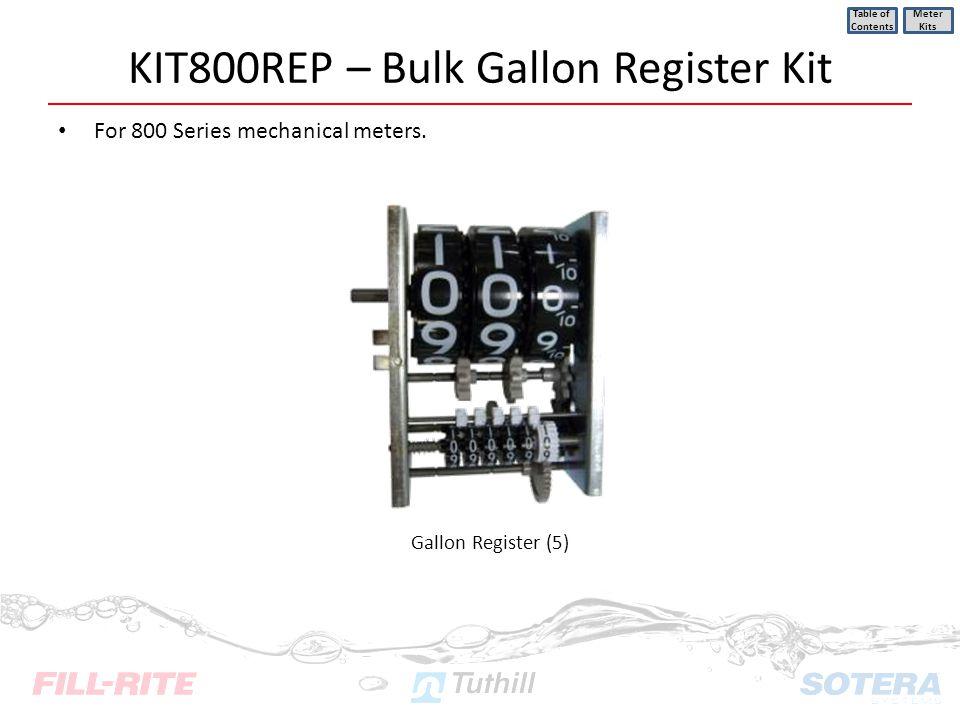 KIT800REP – Bulk Gallon Register Kit