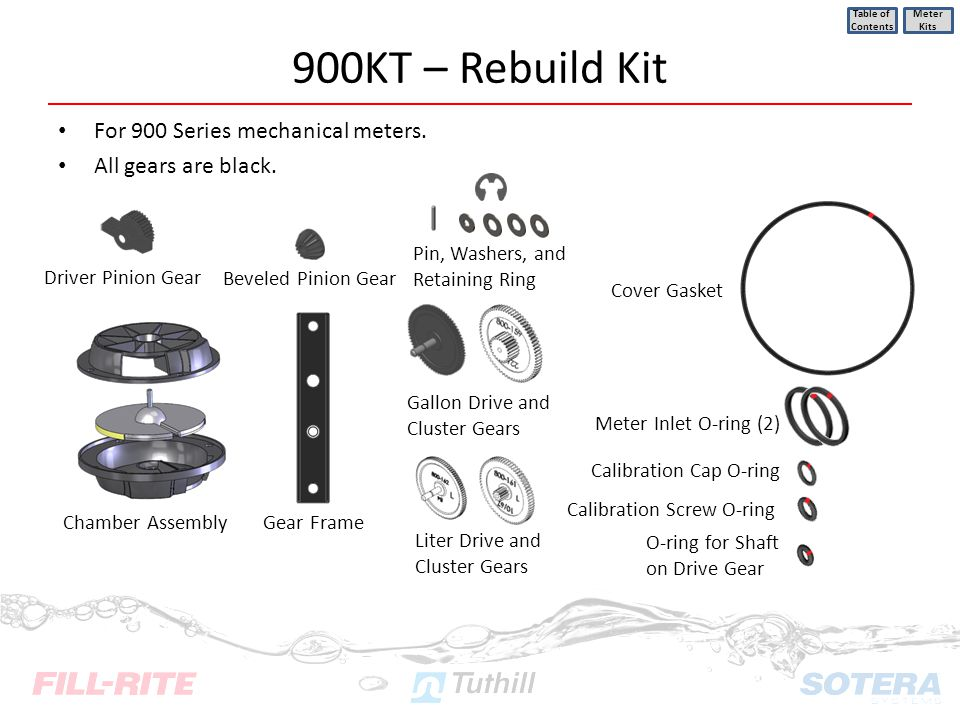 900KT – Rebuild Kit For 900 Series mechanical meters.