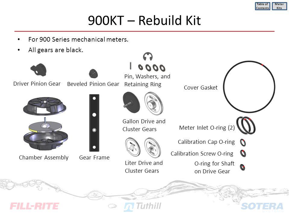 900KT – Rebuild Kit For 900 Series mechanical meters.