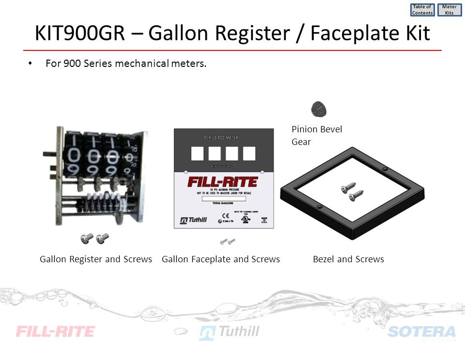 KIT900GR – Gallon Register / Faceplate Kit