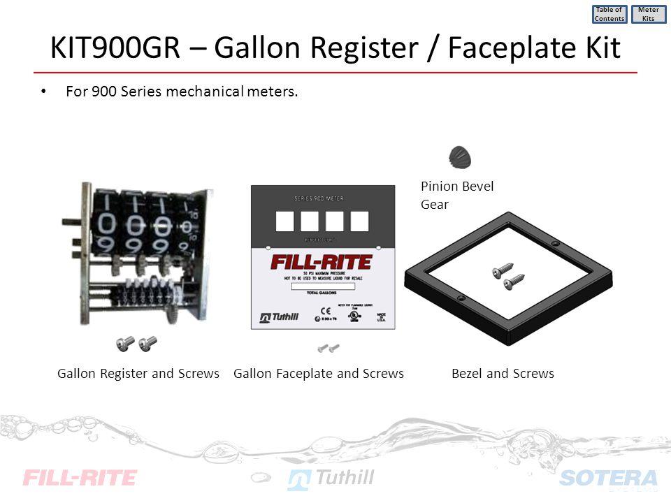 KIT900GR – Gallon Register / Faceplate Kit