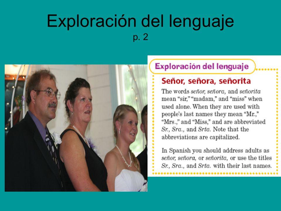 Exploración del lenguaje p. 2