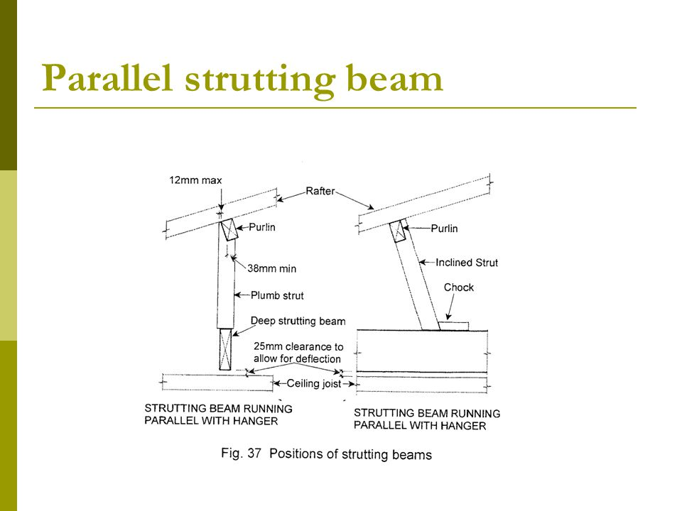Parallel strutting beam