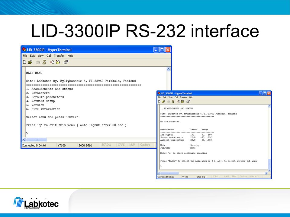 LID-3300IP RS-232 interface