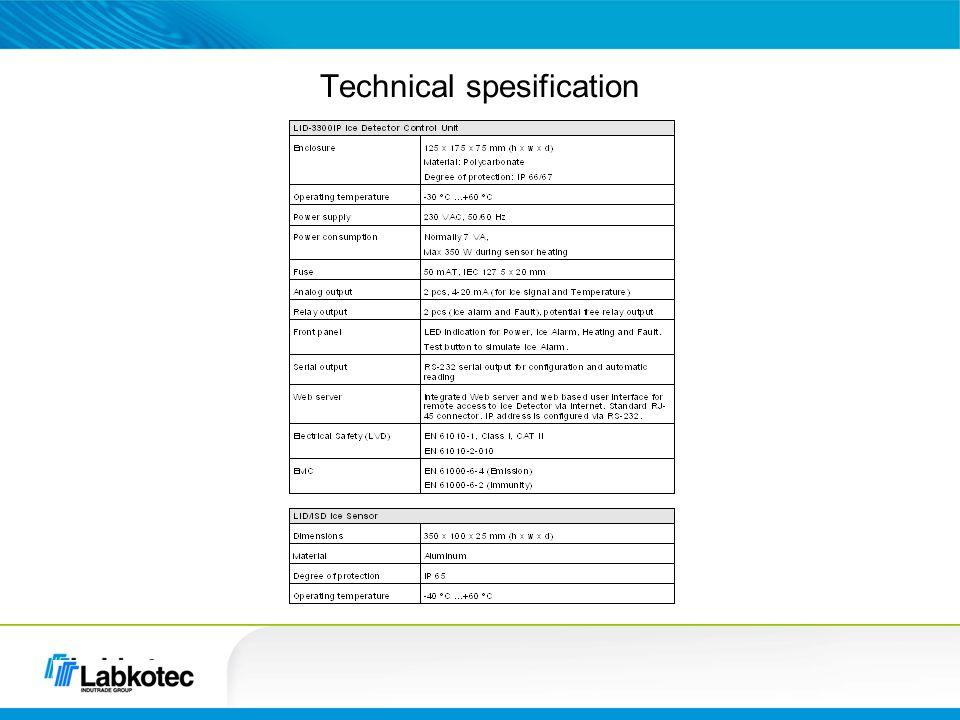 Technical spesification