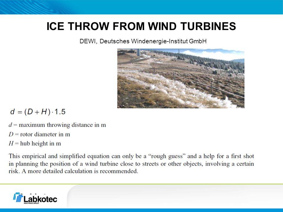 ICE THROW FROM WIND TURBINES DEWI, Deutsches Windenergie-Institut GmbH