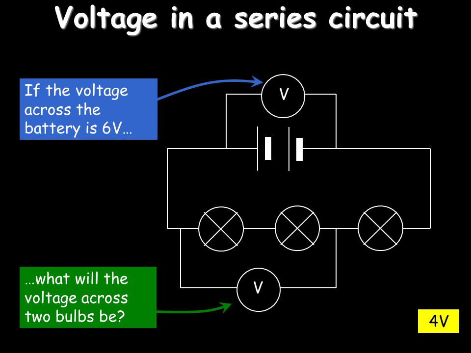 Voltage in a series circuit