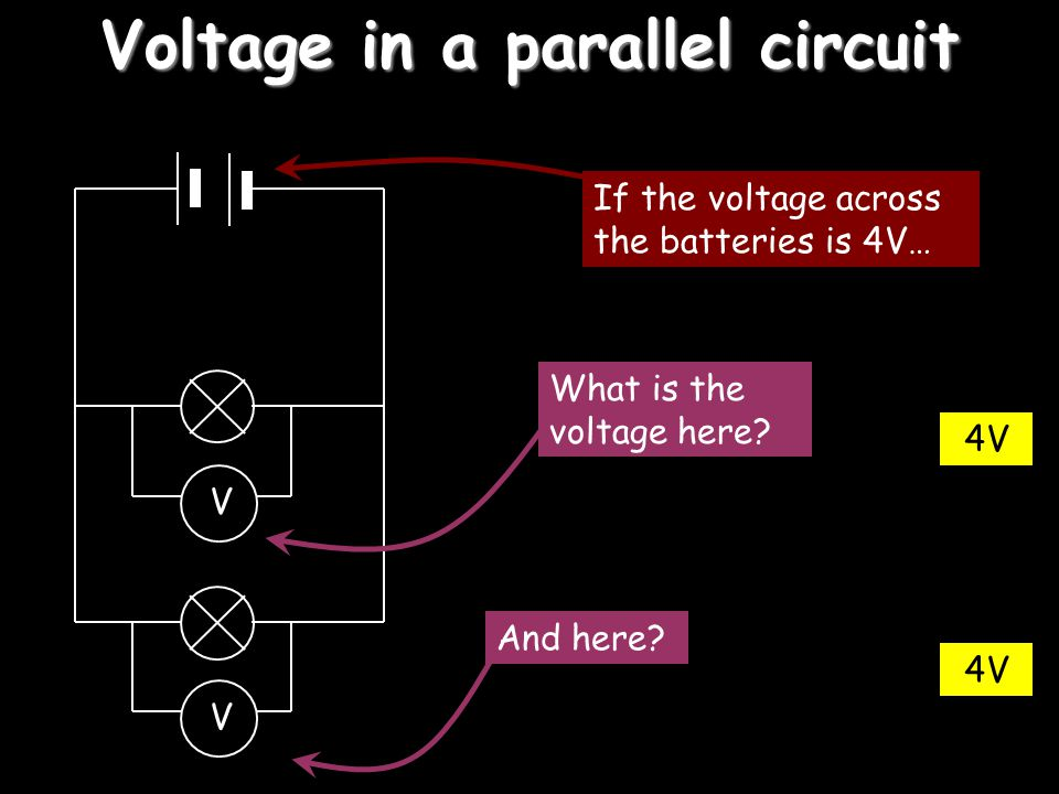 Voltage in a parallel circuit
