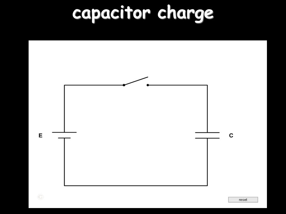 capacitor charge 'right click' on the switch for action