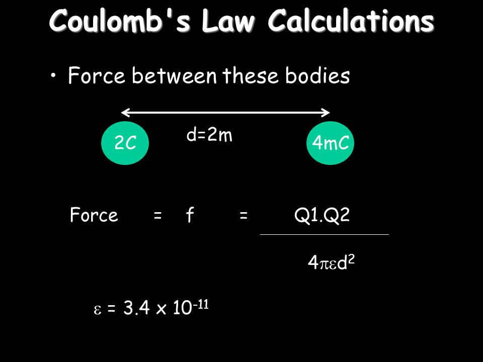 Coulomb s Law Calculations