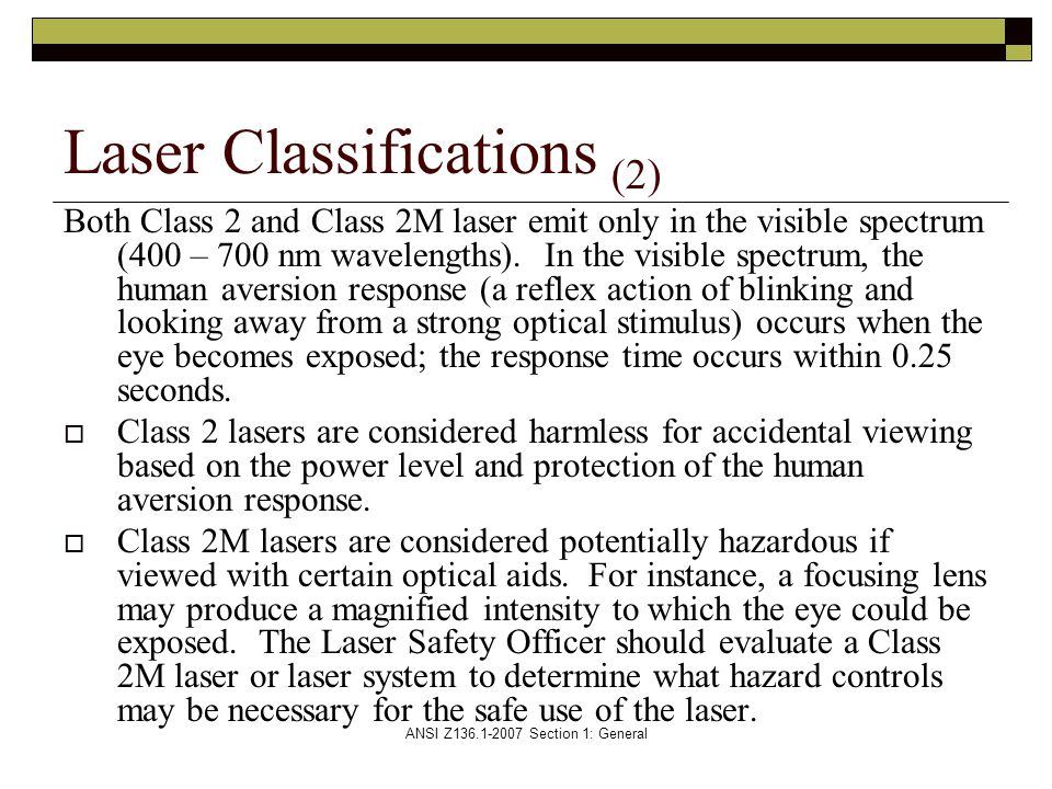 Laser Classifications (2)