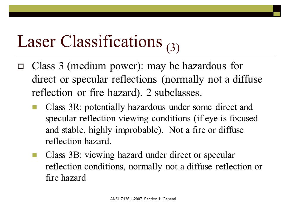 Laser Classifications (3)