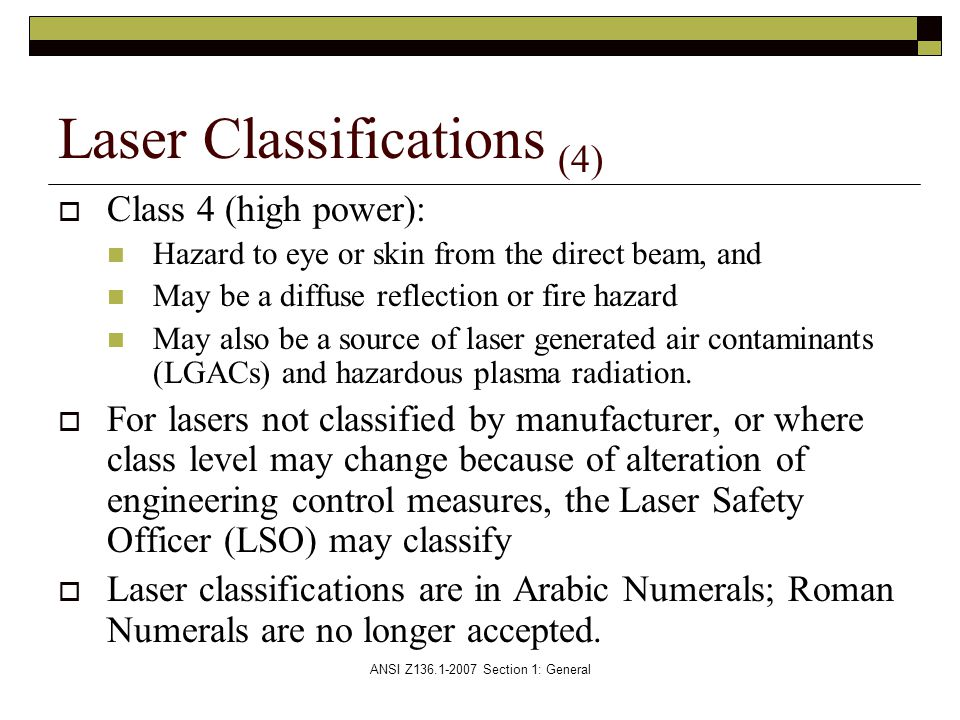Laser Classifications (4)