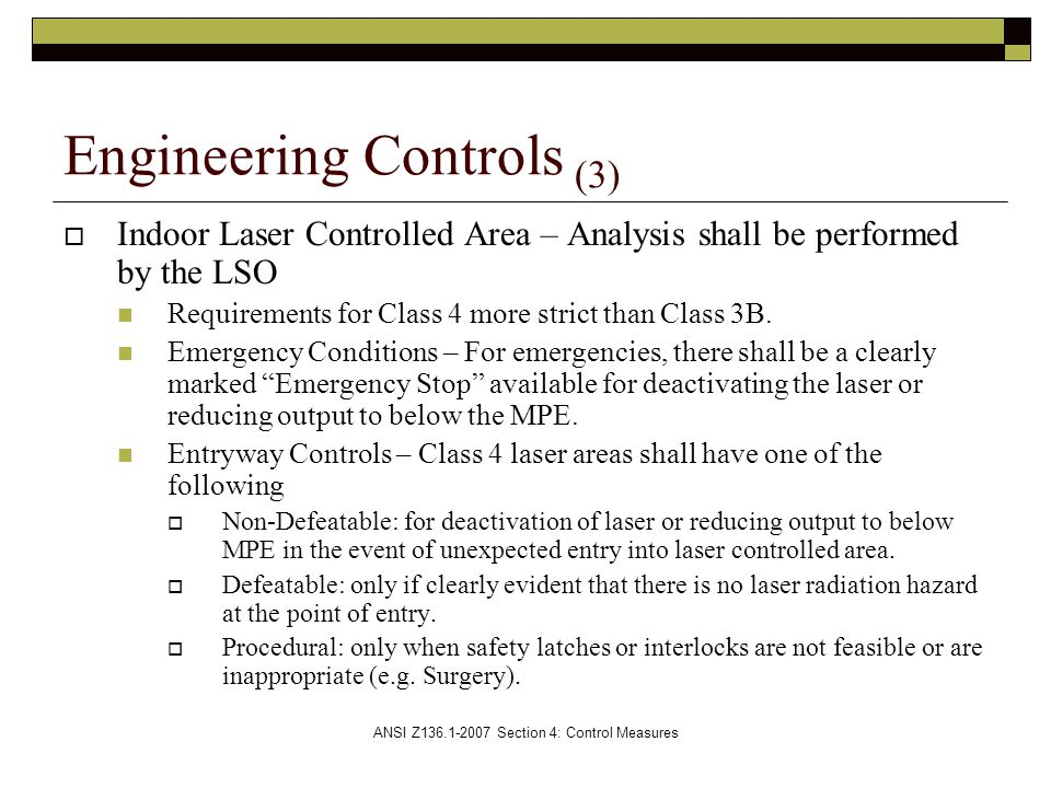 Engineering Controls (3)