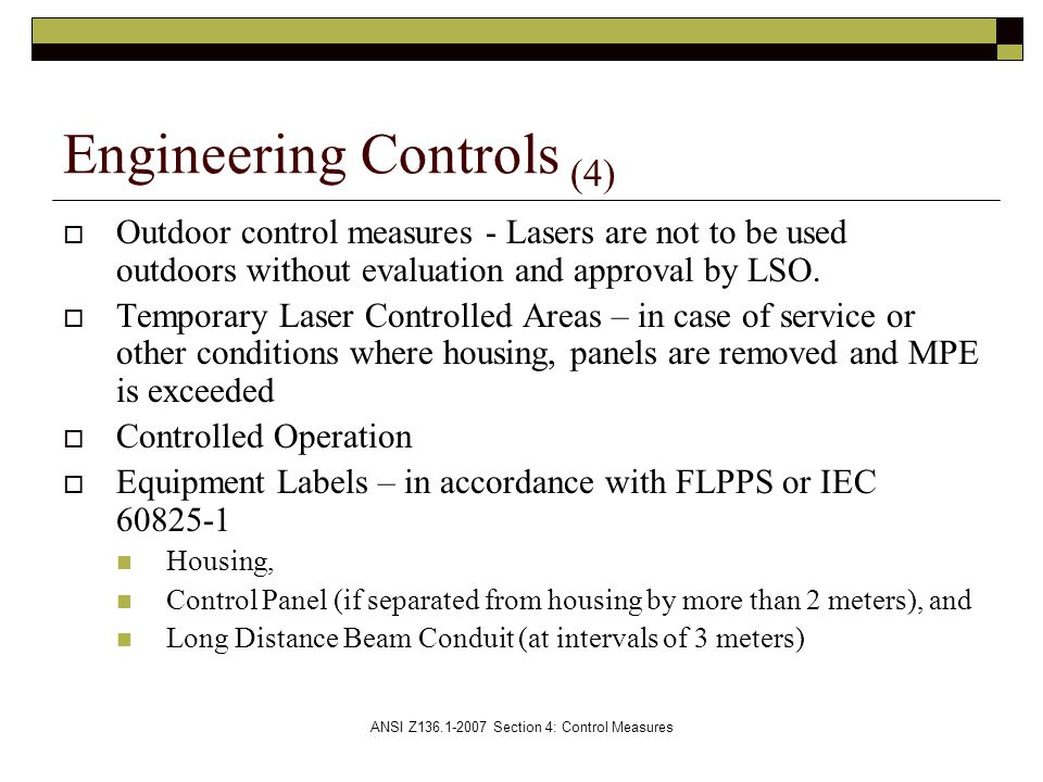 Engineering Controls (4)