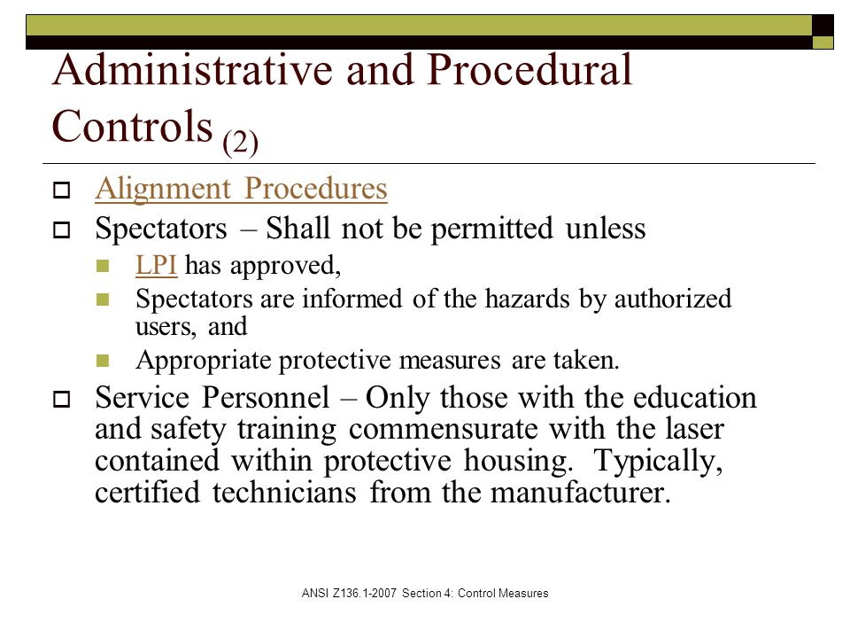 Administrative and Procedural Controls (2)