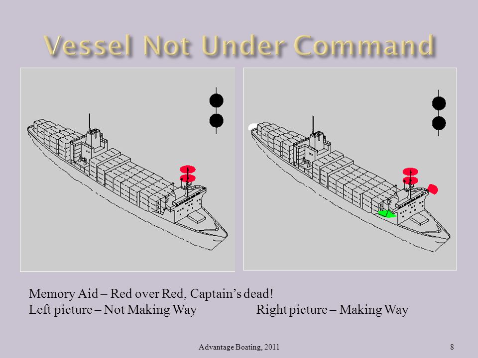Vessel Not Under Command