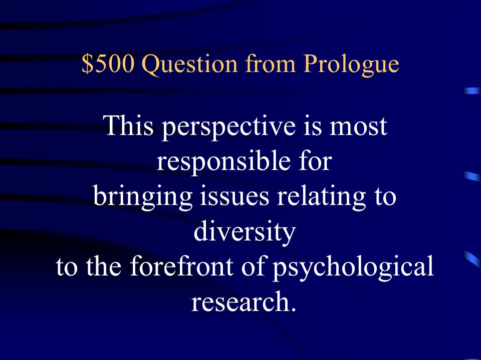$500 Question from Prologue