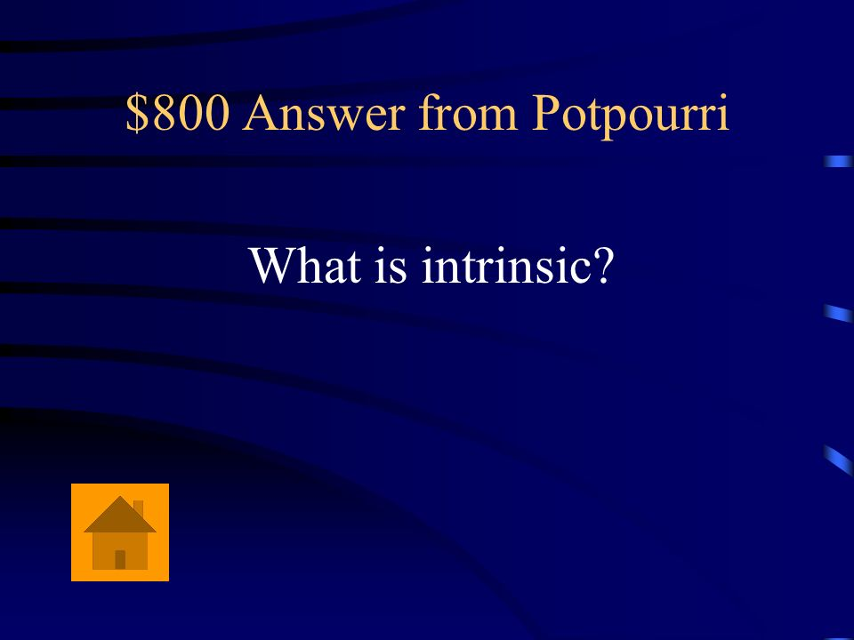 $800 Answer from Potpourri