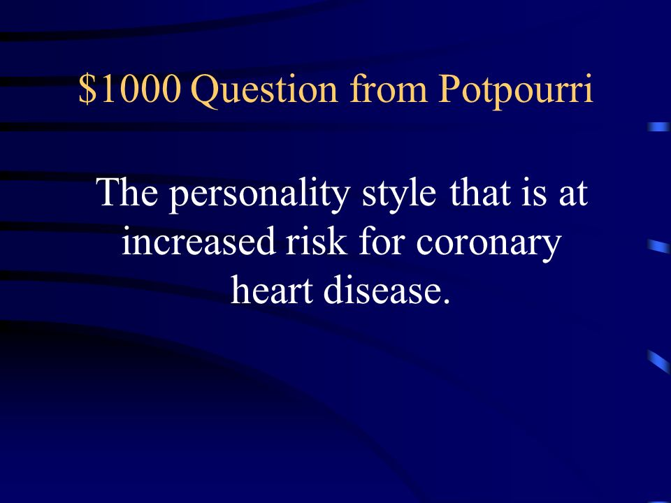 $1000 Question from Potpourri