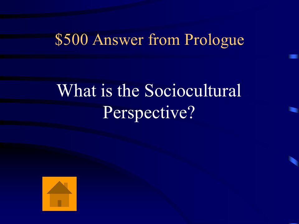 What is the Sociocultural Perspective