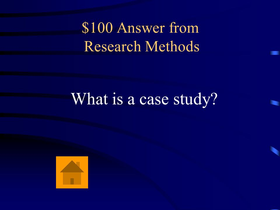 $100 Answer from Research Methods