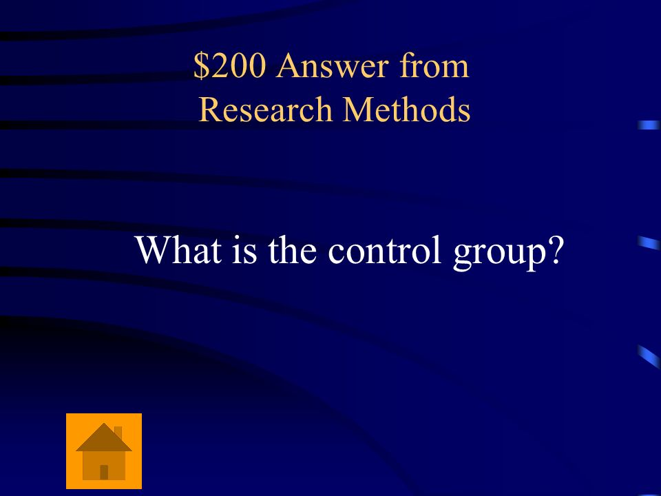$200 Answer from Research Methods