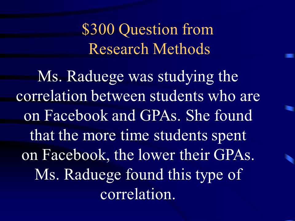 $300 Question from Research Methods