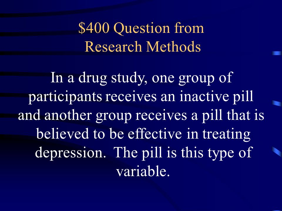 $400 Question from Research Methods