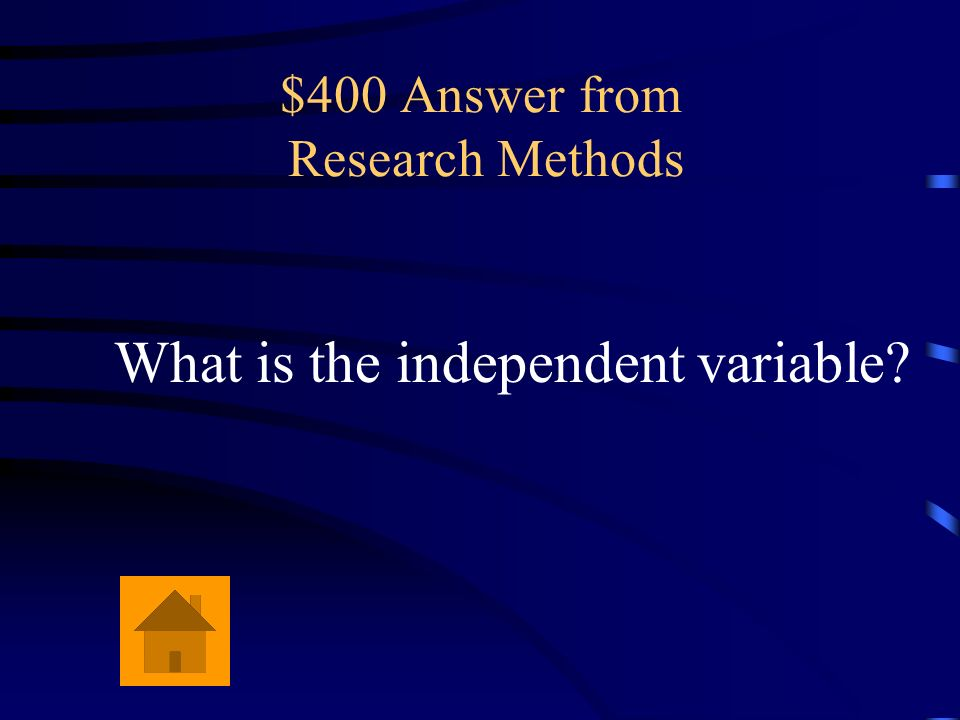 $400 Answer from Research Methods