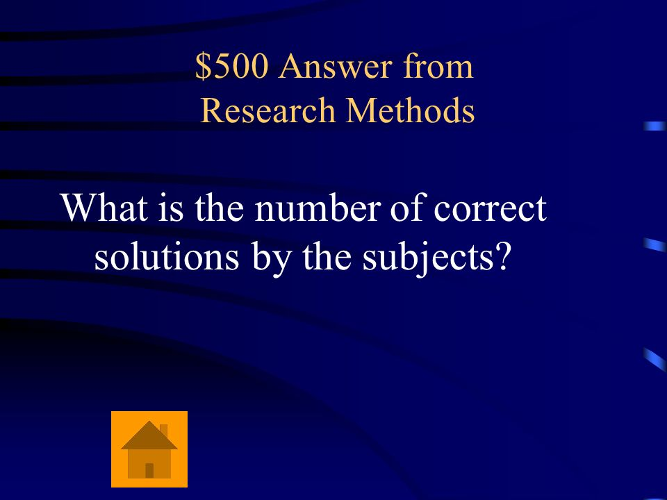 $500 Answer from Research Methods