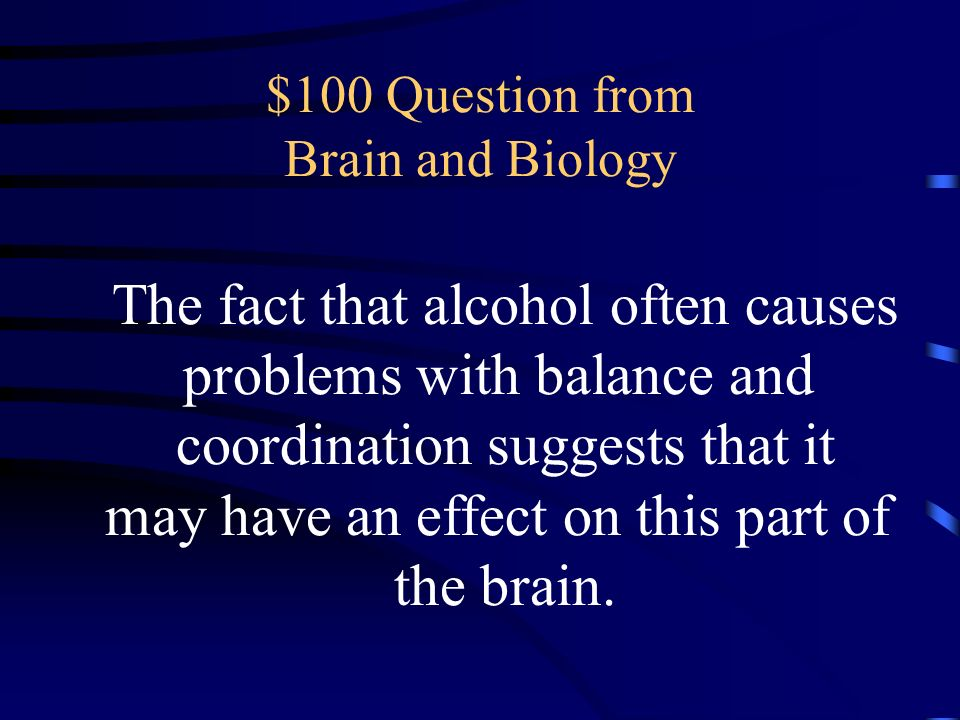 $100 Question from Brain and Biology