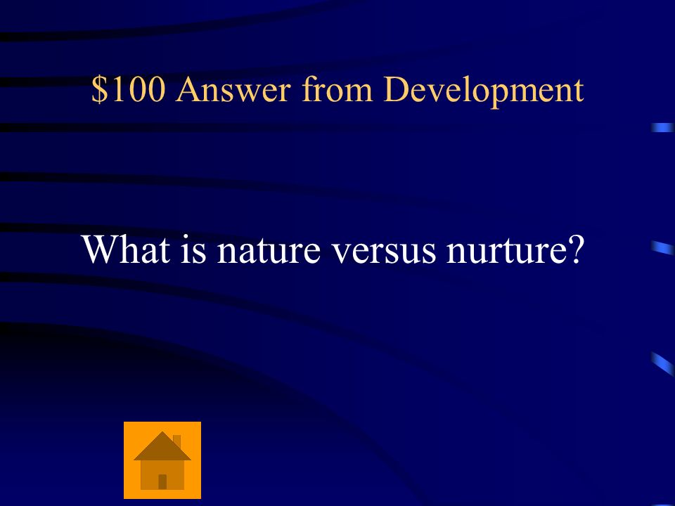 $100 Answer from Development