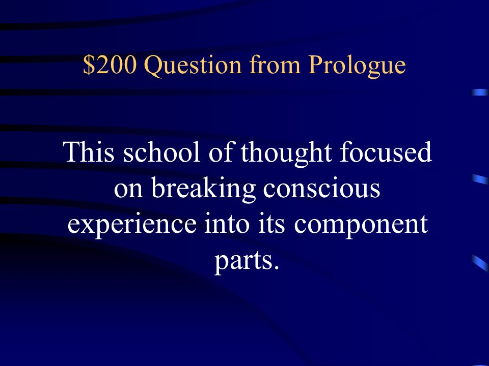 $200 Question from Prologue