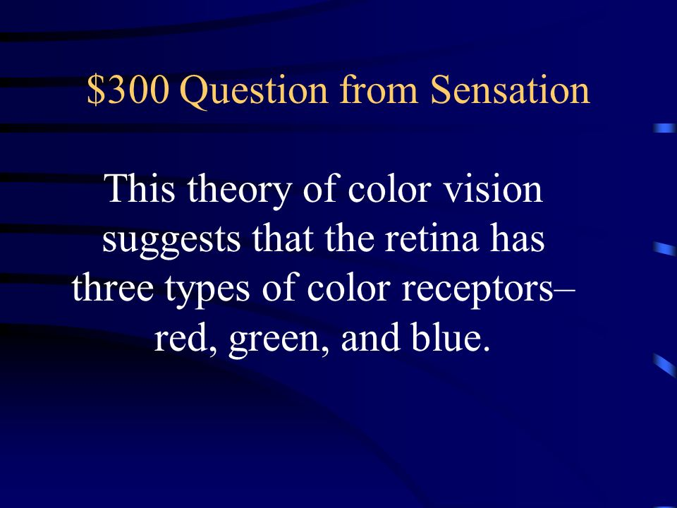 $300 Question from Sensation