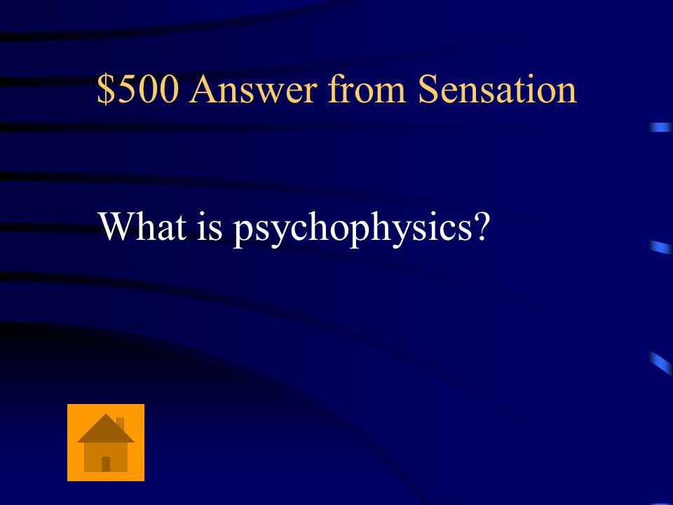 $500 Answer from Sensation