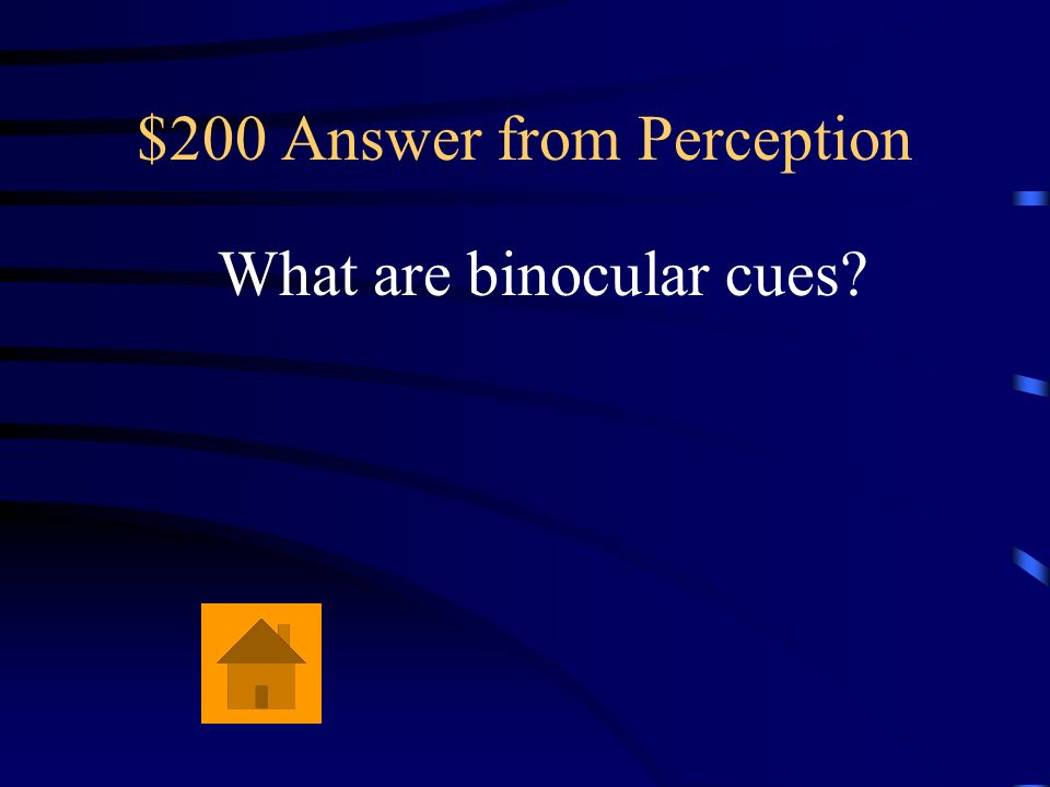 $200 Answer from Perception