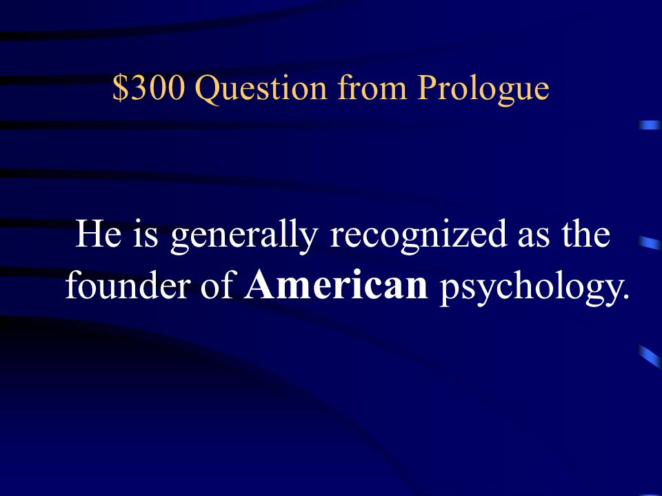 $300 Question from Prologue